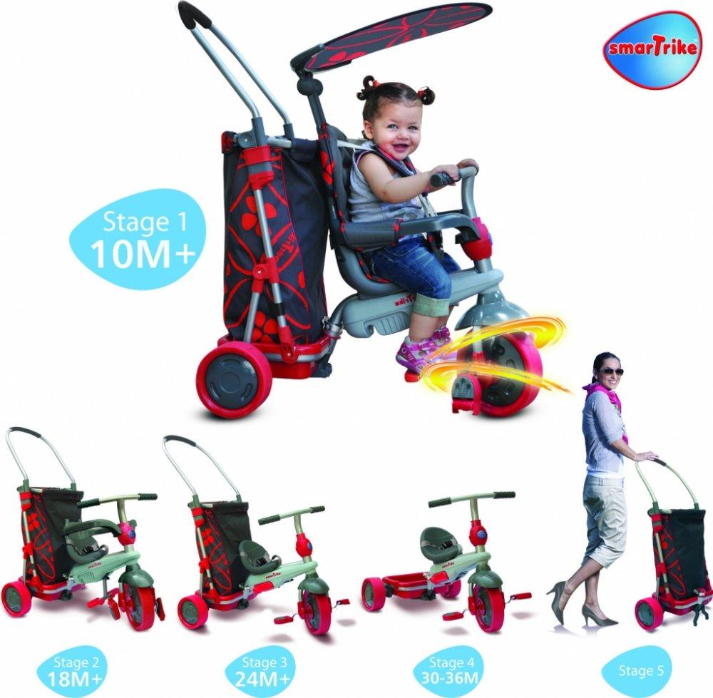 SMART TRIKE 7000100 tříkolka Smart Trike&Go Touch Steering s nákupním vozíkem od 10 měsíců