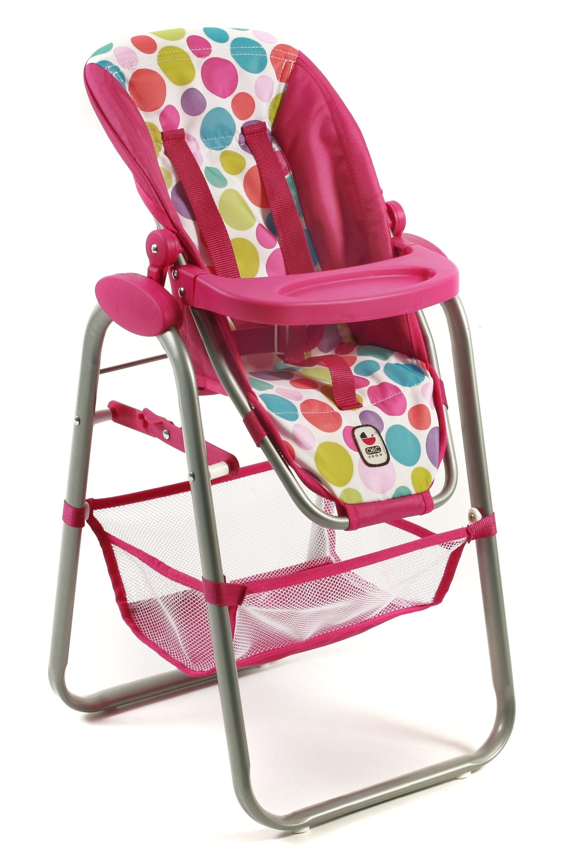 Bayer Chic Vysoká jídelní židlička pro panenky 2016 17