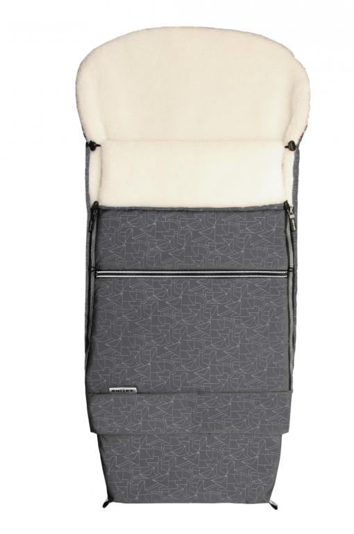 Emitex Combi 3v1 EXTRA Fusak zimní do kočárku šedý/kožich 50%vlna DOPRODEJ