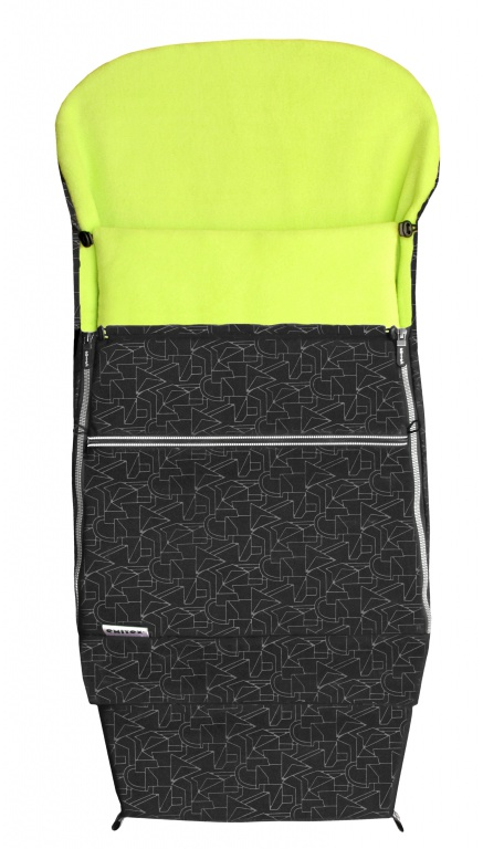 Emitex Combi 3v1 EXTRA Fusak zimní do kočárku černý + limetka