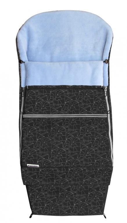 Emitex Combi 3v1 EXTRA Fusak zimní do kočárku černý + sv. modrý
