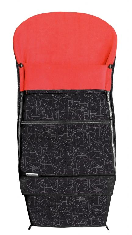 Emitex Combi 3v1 EXTRA Fusak zimní do kočárku černý + červený