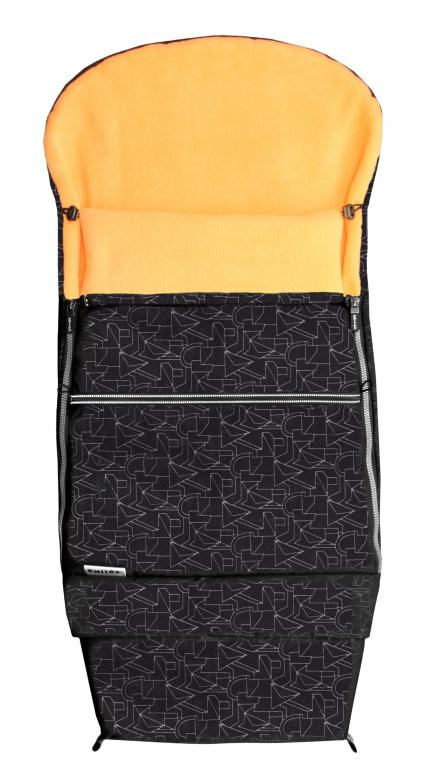 Emitex Combi 3v1 EXTRA Fusak zimní do kočárku černý + oranžový