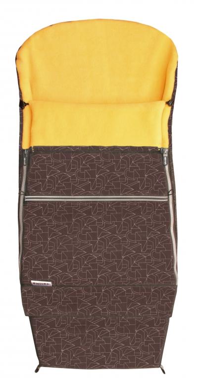 Emitex Combi 3v1 EXTRA Fusak zimní do kočárku hnědý + oranžový