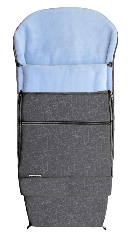 Emitex Combi 3v1 EXTRA Fusak zimní do kočárku šedý + sv. modrý
