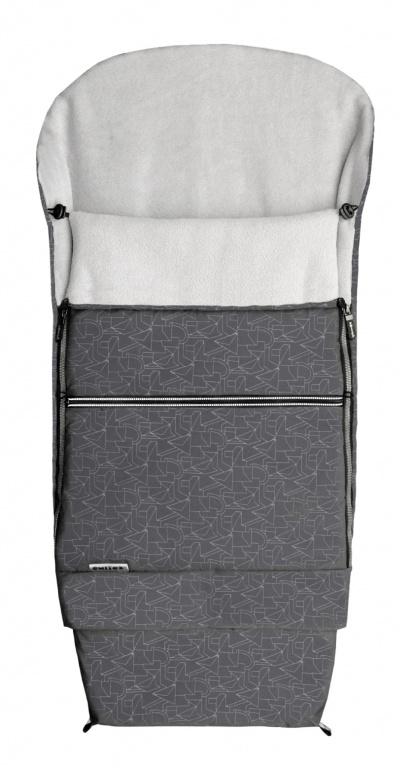 Emitex Combi 3v1 EXTRA Fusak zimní do kočárku šedý