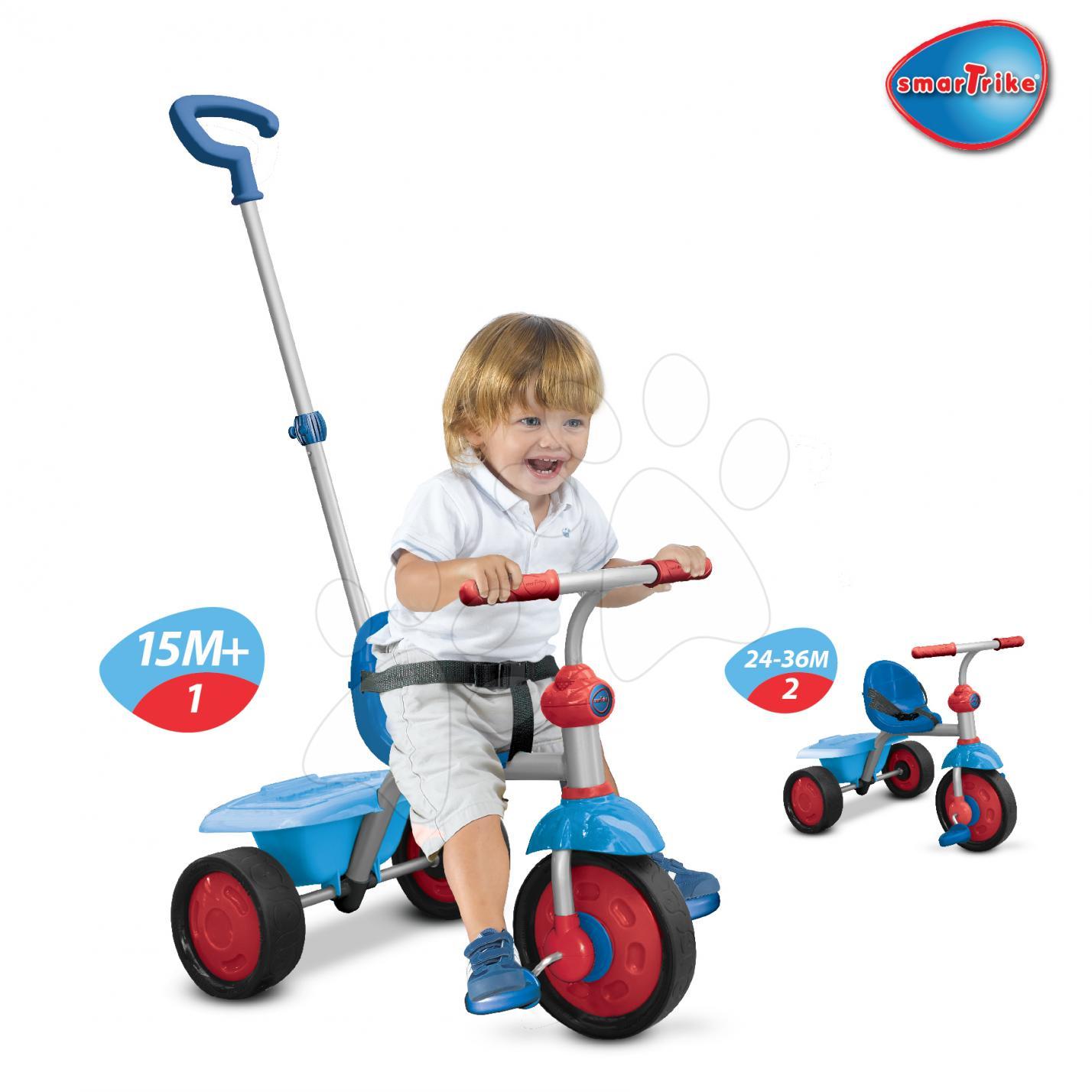 SMART TRIKE 1380400 ultralehká modro-červená tříkolka Fun od 15 měsíců
