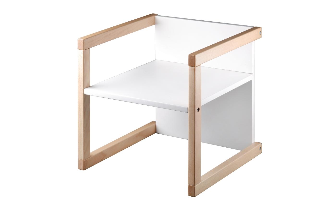 Wood Partner dětská židlička UNIVE 3v1 bílá