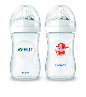 Avent láhev Natural 260 ml (PP) + HASIČ
