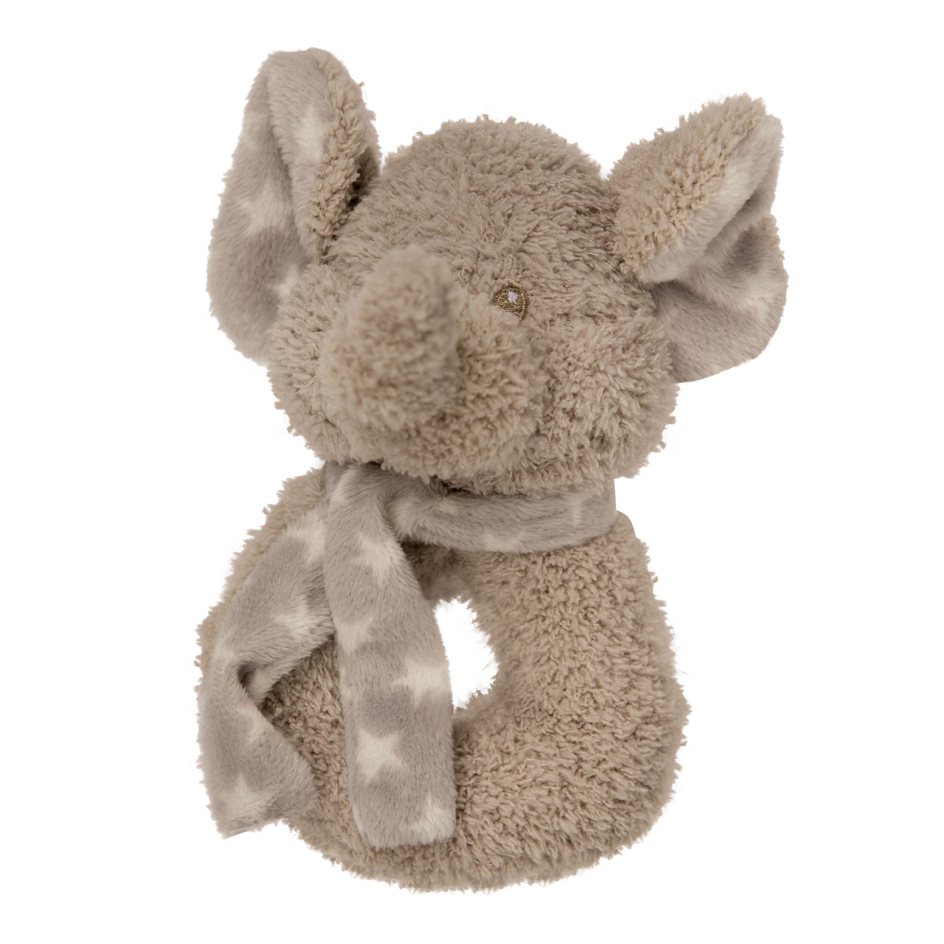 Bo Jungle plyšové chrastítko Elephant
