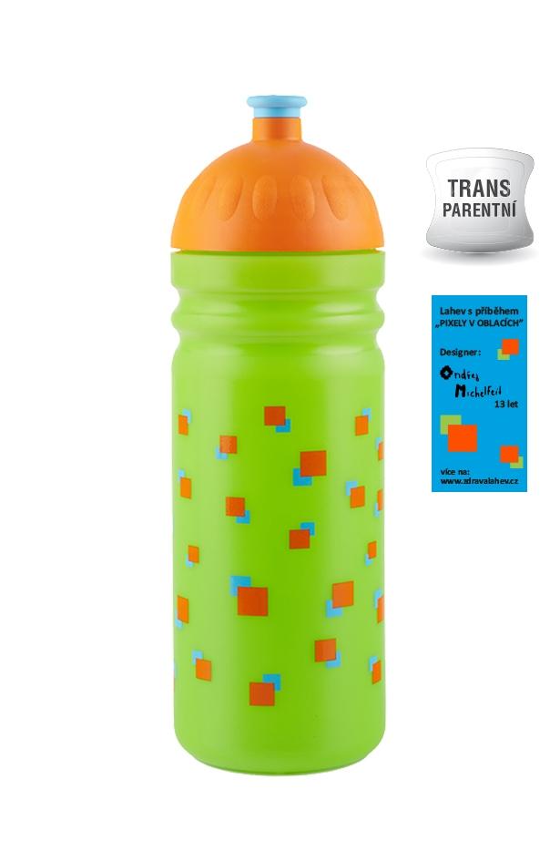 Zdravá lahev ® 0,7l pixely v oblacich - lahev s pribehem
