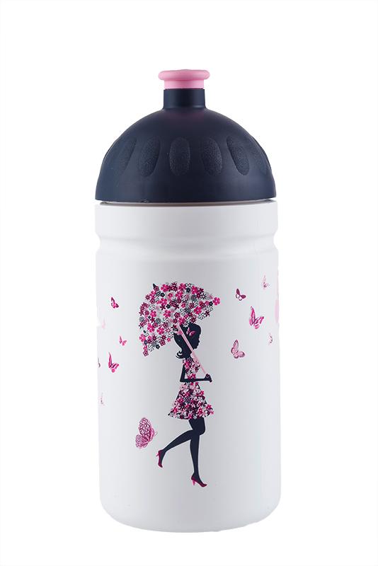 Zdravá lahev ® 0,5l dětská dívka s deštníkem