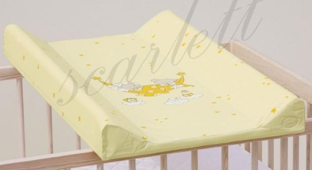 Podložka s pevnou deskou 50x70 cm Scarlett žlutá