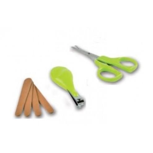 NUVITA sada manikůra pro miminka zelená