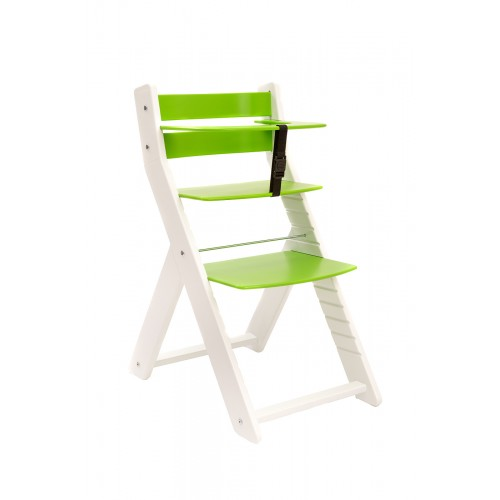 Dětská rostoucí židle UNIZE Wood Partner bílá zelená