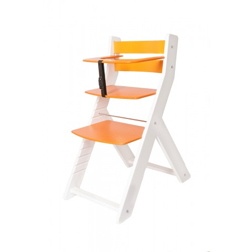 Dětská rostoucí židle UNIZE Wood Partner bílá oranžová
