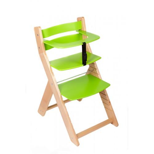 Dětská rostoucí židle UNIZE Wood Partner natur zelená