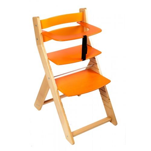 Dětská rostoucí židle UNIZE Wood Partner natur oranžová