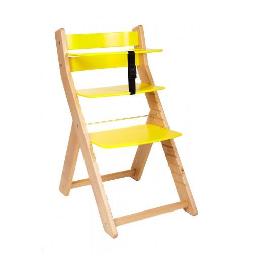 Dětská rostoucí židle UNIZE Wood Partner natur žlutá