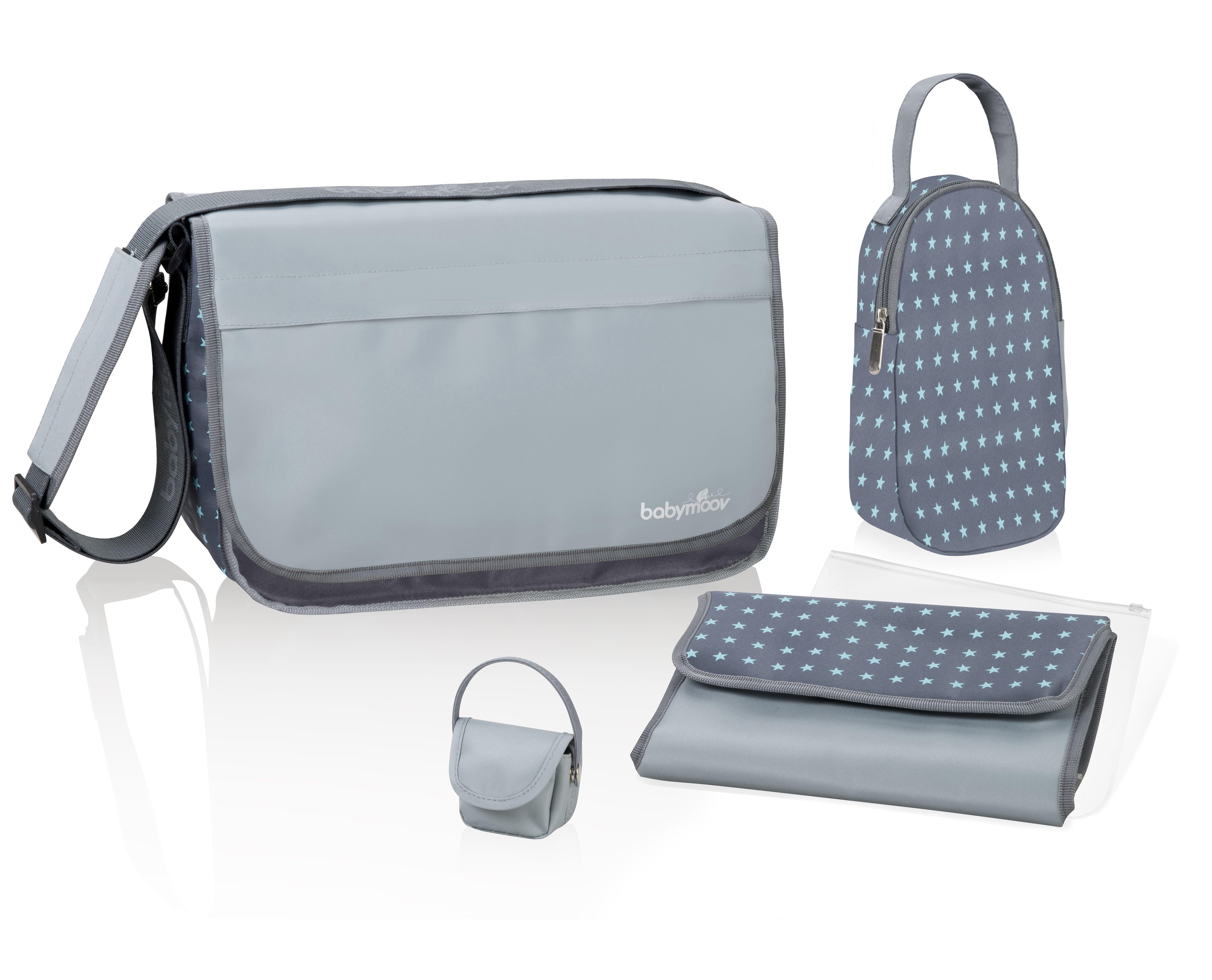 Babymoov Messenger přebalovací taška zinc/aqua