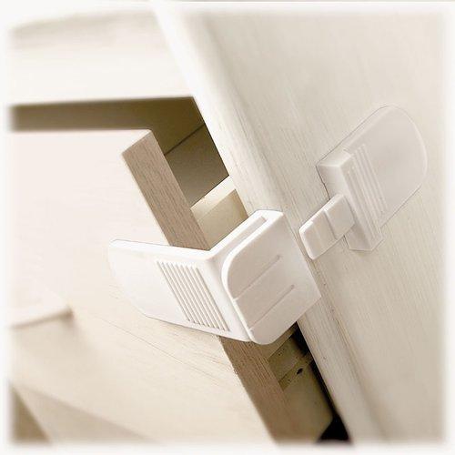 Lindam - Bezpečnostní zábrana na skříně a šuplíky ve tvaru L 2ks