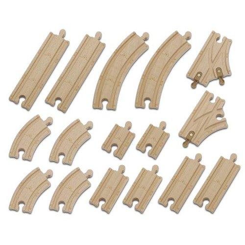 Chuggington - Sada 16 ks kolejí- dřevěné mašinky