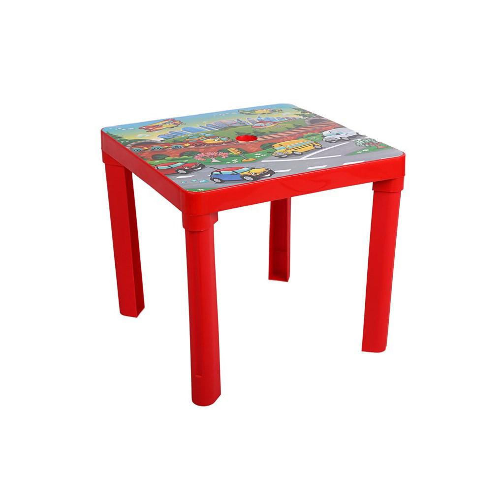 Dětský zahradní nábytek - Plastový stůl červený