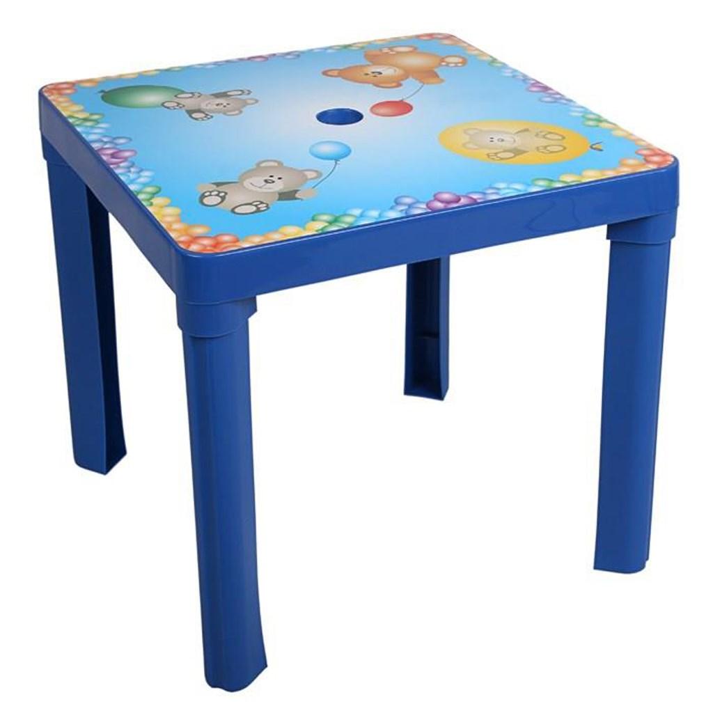 Dětský zahradní nábytek - Plastový stůl modrý
