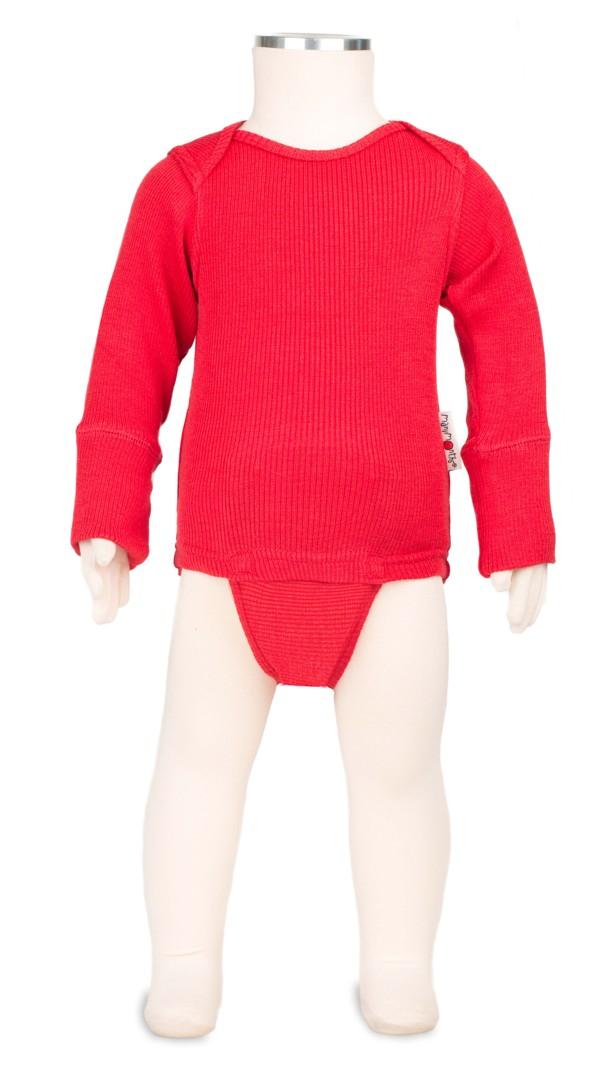 Manymonths body/tričko merino 16 Poppy Red-Adventurer...1-2/2,5roků