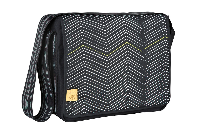 Lässig Casual Messenger Bag Zigzag black white