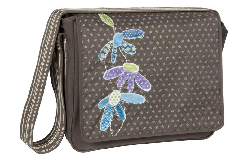 Lässig Casual Messenger Bag Flowerpatch slate