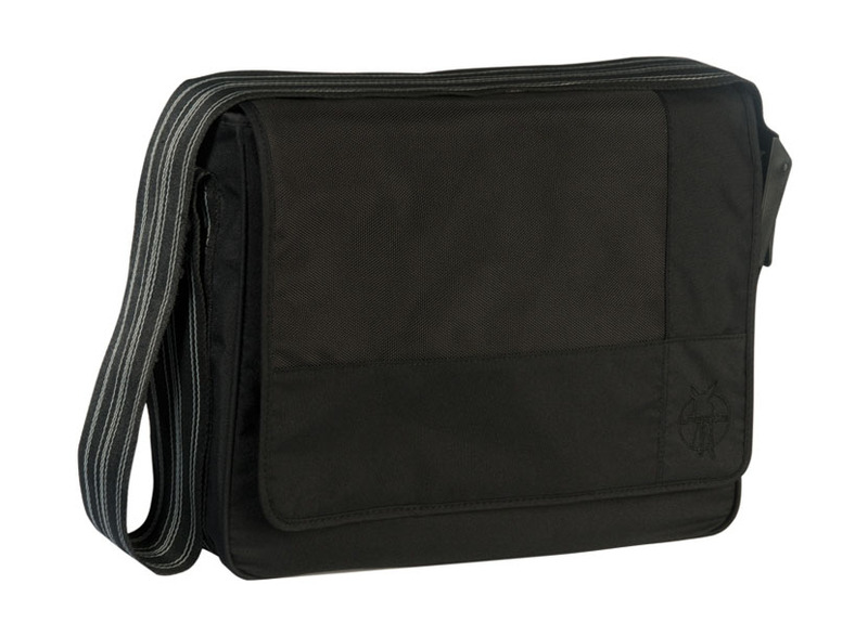 Lässig Casual Messenger Bag Patchwork black