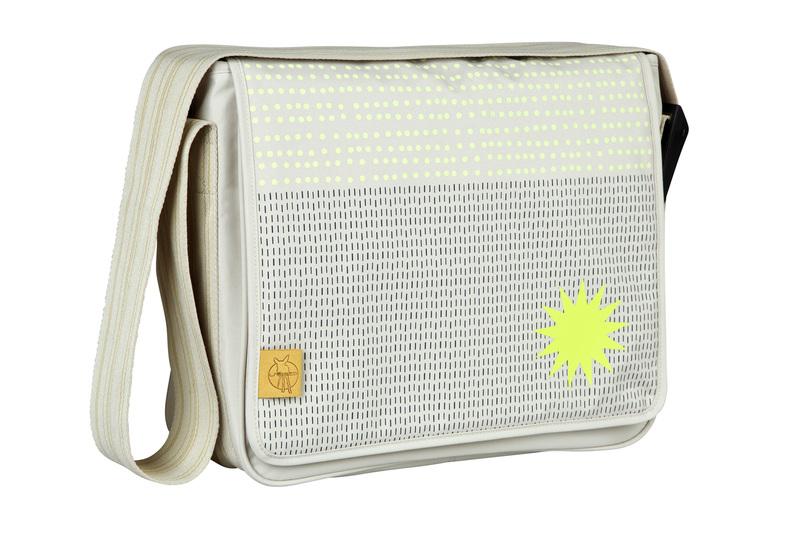 Lässig Casual Messenger Bag Dots Strokes sand