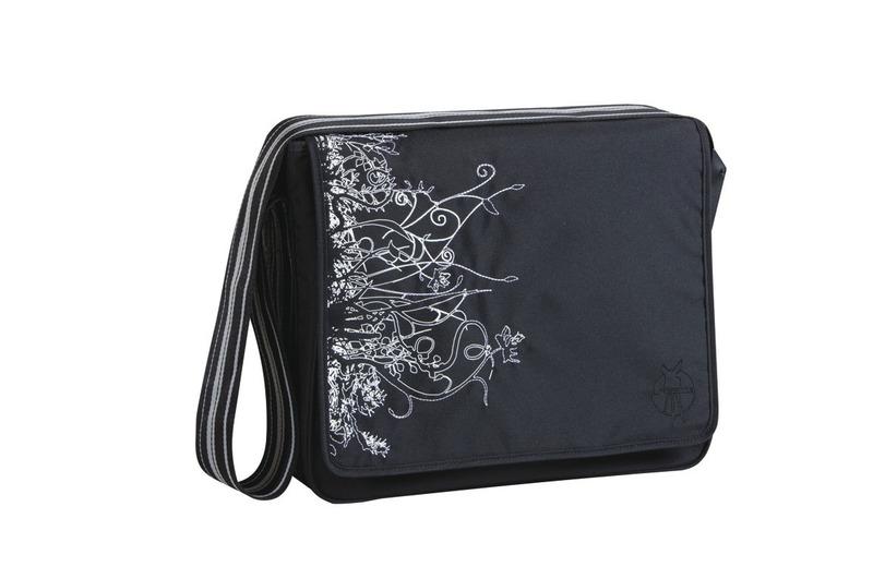 Lässig Casual Messenger Bag Vertical black
