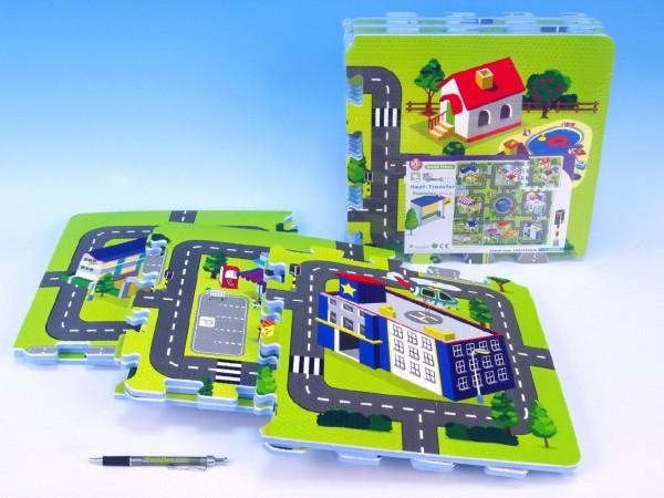 Pěnové puzzle Město 32x32cm 9ks v sáčku od 10 měsíců