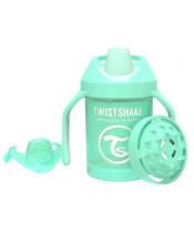 TWISTSHAKE Hrnek učicí 230 ml (4m+) pastelově zelená