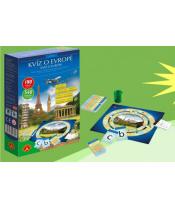 Kvíz o Evropě společenská hra v krabičce 11,5x18x3,5cm