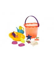 Velká sada hraček na písek v kyblíku 10 ks