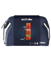 GILLETTE Dárkové Balení Fusion5 ProGlide Holicí strojek + Holicí hlavice + Gel na holení