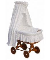 Scarlett Proutěný koš na miminko s nebesy HVĚZDIČKA - bílá