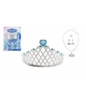 Sada krásy plast korunka, náhrdelník, naušnice na kartě 20x28cm
