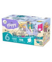 BELLA HAPPY Junior 6 Big TOY BOX (16+ kg) 108 ks - jednorázové pleny