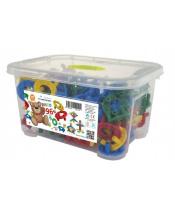 Stavebnice DISCO 96 plast 96ks v plastovém boxu 26x14x18cm
