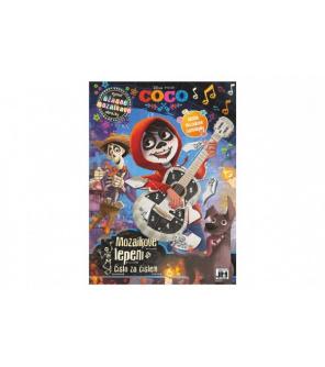Mozaikové lepení Coco/Disney s mozaikovými samolepkami 20x28cm