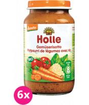 6x HOLLE Bio Zeleninové rizoto - zeleninový příkrm, 220 g