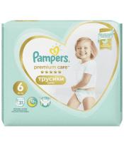 Kalhotky plenkové Premium Care Pants 6 EXTRA LARGE 16kg+ 31ks Pampers