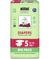 Pleny jednorázové 5 Maxi + 10-16kg Big Pack 66ks Baby Muumi