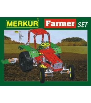 Stavebnice MERKUR Farmer Set 20 modelů 341ks v krabici 36x27x5,5cm