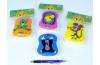 Pískací polštářek Krtek plast 9x12cm asst 6 druhů 6 barev v sáčku