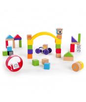 BABY EINSTEIN Dřevěná stavebnice Curious Creations Kit HAPE 12m+